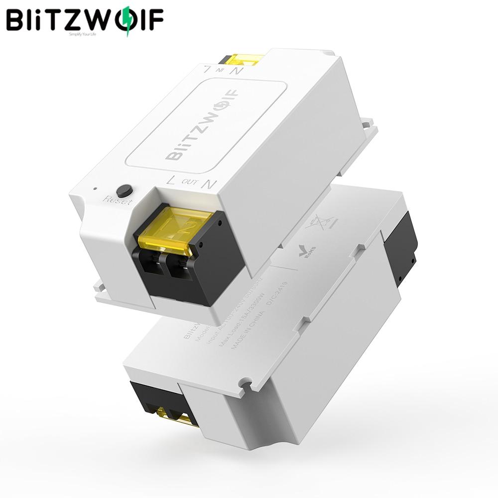 BlitzWolf BW-SS1 Smart Home APP Control Timer Module Socket 3300W 15A Basic DIY WIFI Wireless Switch Work With Google Home IFTTT