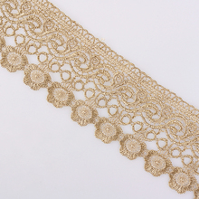 12.9 meter 7.0 cm Gold Lace Trim Ribbon for Garment Home Textiles DIY Crafts Trimmings Sewing Lace Fabric Polyester 12 9 meter 3 0 cm lace trim ribbon for garment home textiles diy crafts trimmings sewing lace fabric polyester 3 5 cm 3 moldes