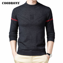 COODRONY Brand Sweater Men Clothing 2020 Autumn Winter Knitwear Warm Pullover Men Fashion Striped Casual O-Neck Pull Homme C1152