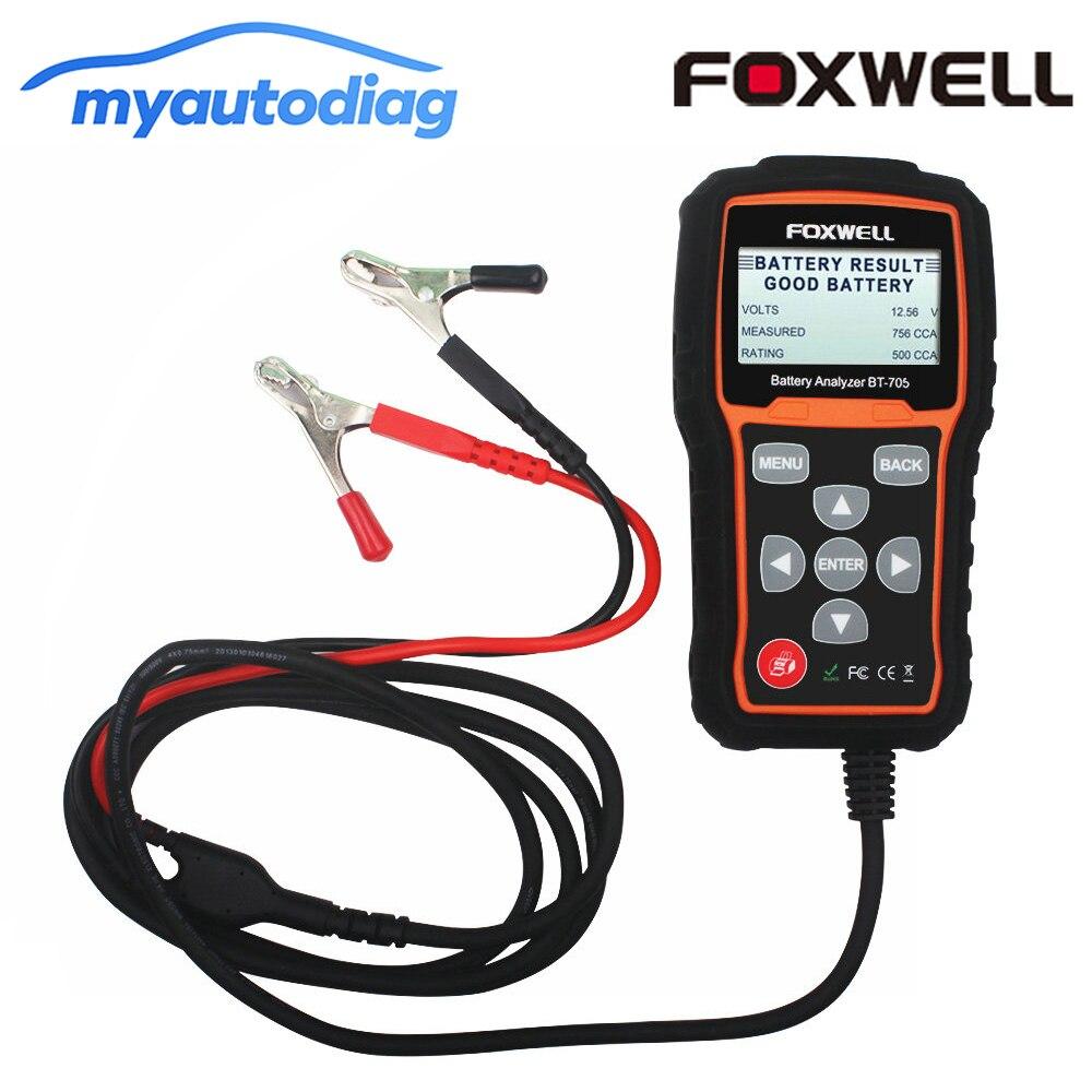 Foxwell BT705 12V & 24V Batterie Analyzer Tester Für Autos Batterie AGM Flache Platte, AGM Spirale Gel Batterien Auto Batterie Werkzeug