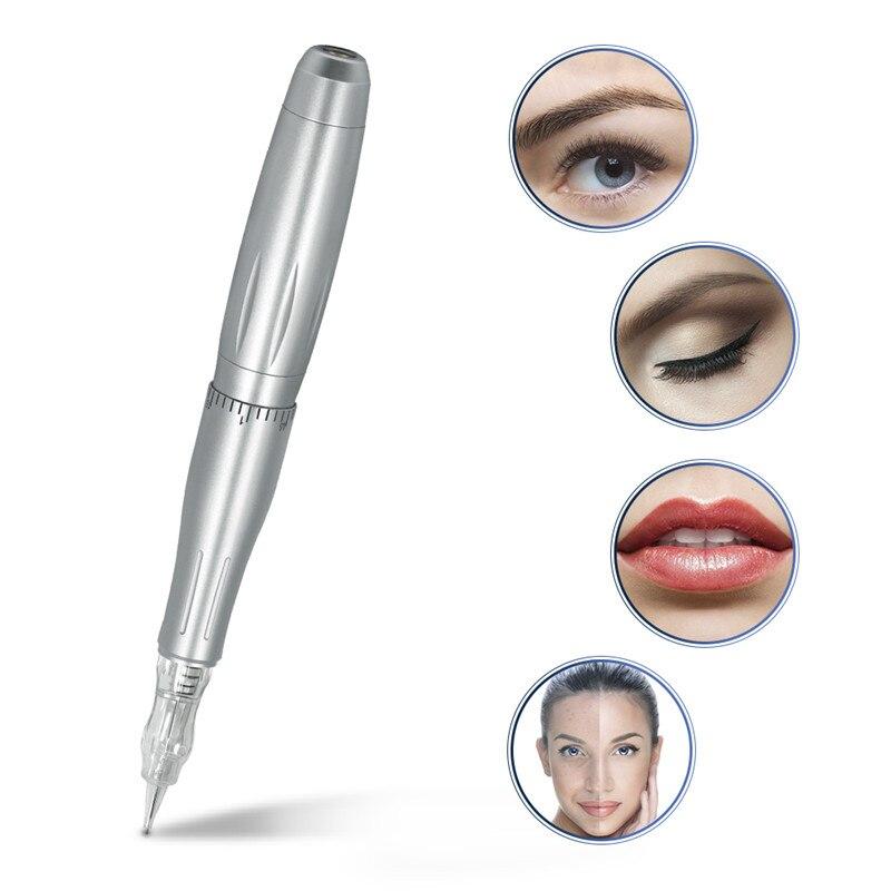 2019 Professional Makeup Eyebrow Lips Permanent Makeup Machine Pen Tatoo 3 Cartridge 3D Microblade Tatto Gun LW-002
