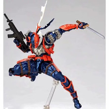Incrível yamaguchi revoltech comic deathstroke ação figura brinquedos