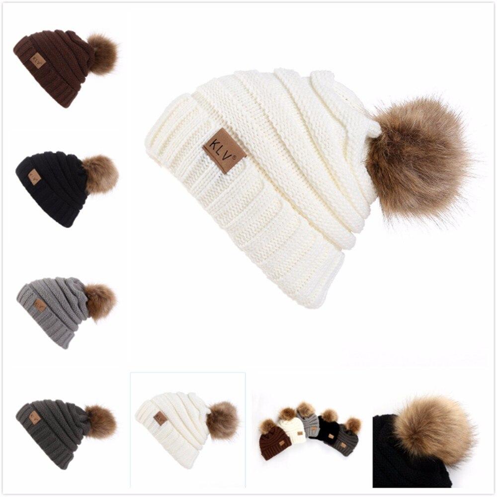 Men Women Baggy Crochet Winter Wool Knit Ski Beanie Skull Slouchy Caps Hat Hip Hop Warm Winter Hats For Women C1217