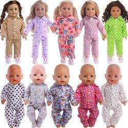Кукольная Пижама ручной работы, одежда для американской девочки 18 дюймов 43 см, товары для кукол новорожденных, аксессуары, игрушки поколени...