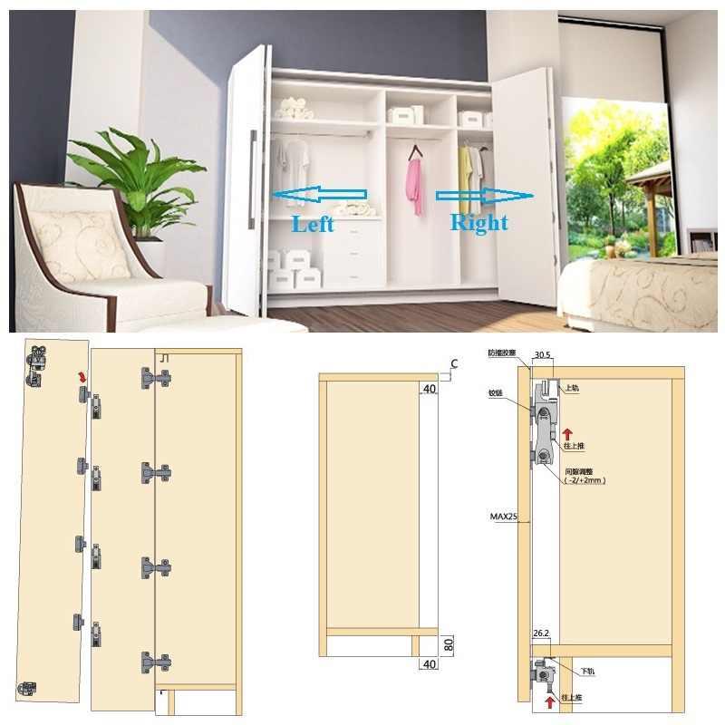 Furniture Cabinet Closet Door Roller Catch with ABS Roller Beige 10Pcs