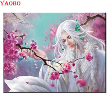 5D DIY Diamond Lukisan Jepang Anime Sakura Pemandangan Cross Stitch Persegi Diamond Bordir Manik-manik Pola Mosaik Dekorasi(China)
