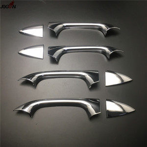 Image 3 - Door Handle Cover Trim For Mercedes Benz C class W203 2000 2007 ABS Chrome Silver