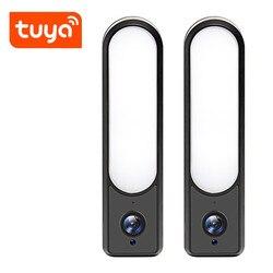 Tuya Камера Смарт открытый прожектор Камера 1080P Wi-Fi Камера HD Водонепроницаемый Светодиодная лампа P2P ip-камера видеонаблюдения с поддержкой Wi К...