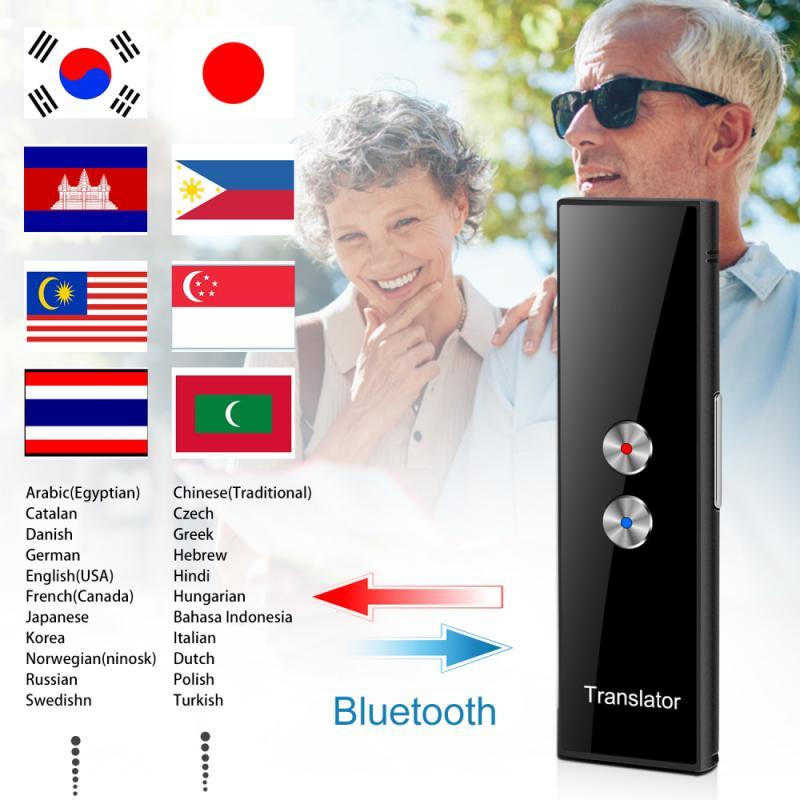 T8 Translator Voice Real Time Instant Multi-Language Speech Interactive Translate Bluetooth APP Portable Voice Smart Translaty