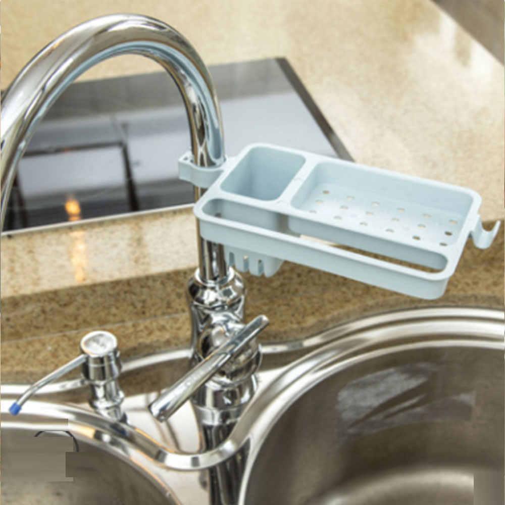 キッチンシンクスポンジ収納ラック皿石鹸ブラシ主催者台所の蛇口クリップ浴室付属品タオルラックホルダー