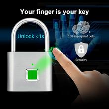Portable Smart Keyless Fingerprint Lock Anti-theft Padlock for Drawer Suitcase Family Essential
