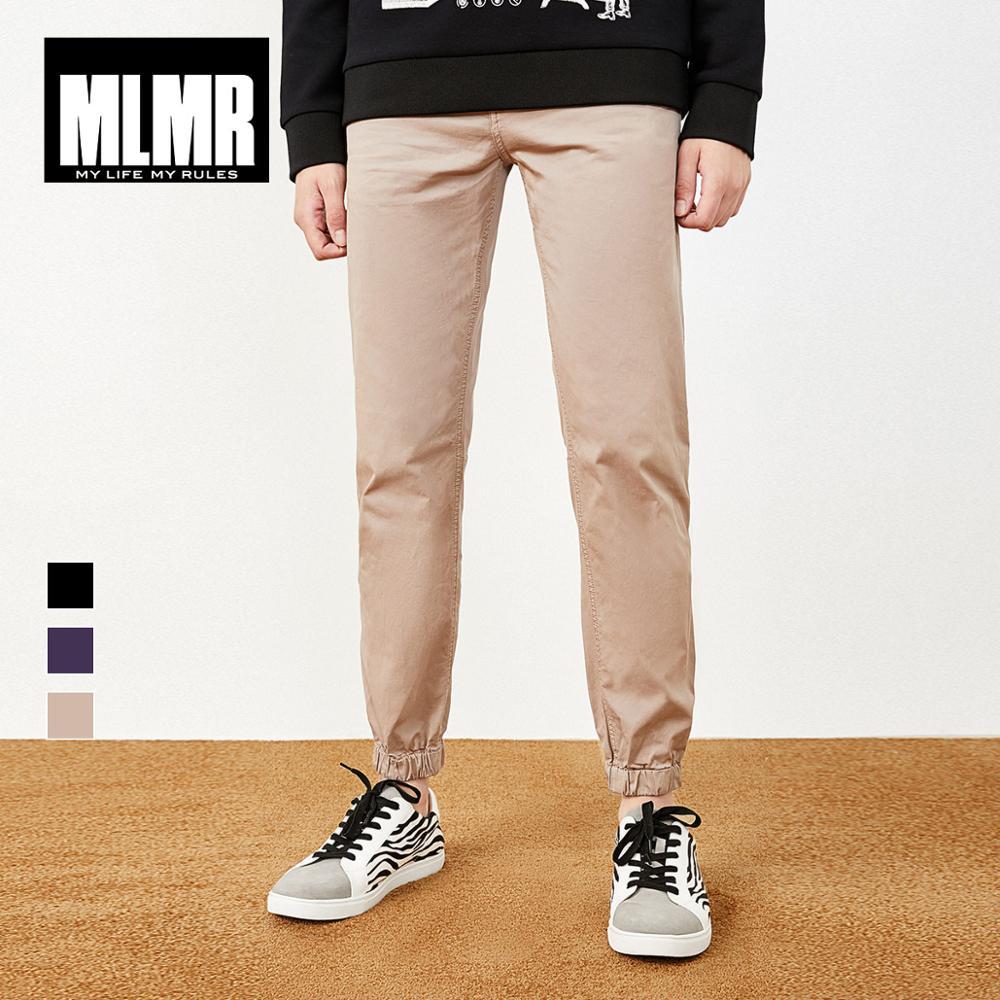 MLMR Men's Stretch Cotton Leisure Pants Jogger Cuff Menswear Style 218314586