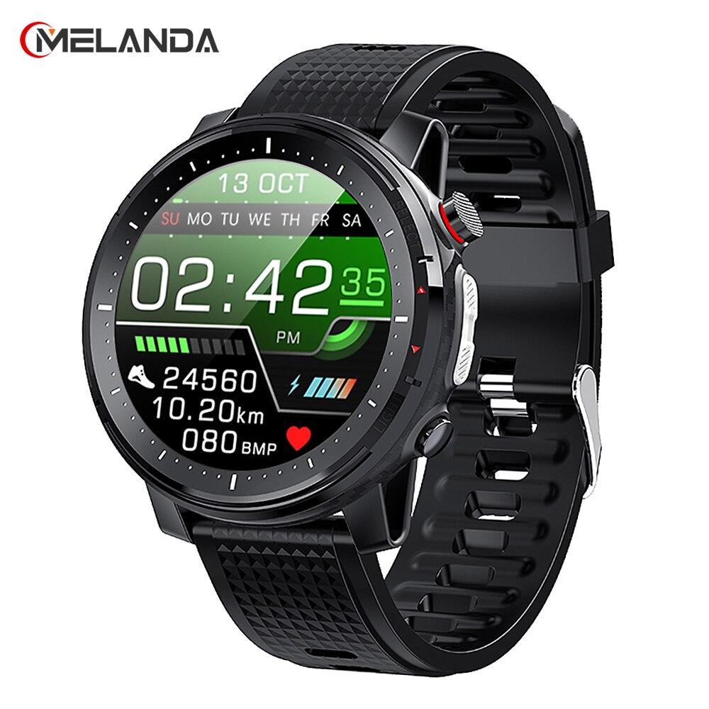 Умные часы с сенсорным экраном 2021 дюйма, мужские спортивные часы, IP68 Водонепроницаемые умные часы с пульсометром для телефонов IOS и Android