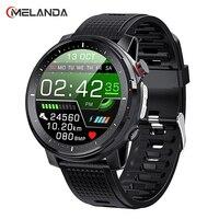 MELANDA 2021 Full Touch Smart Uhr Männer Sport Uhr IP68 Wasserdicht Heart Rate Monitor Smartwatch für IOS Android telefon MD15
