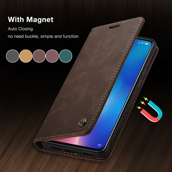 CaseMe For Xiaomi Mi9 Mi9T Retro Magnetic Wallet Leather Case For Redmi Note 8 Luxury Flip Protective Case K20 Note 8 10 CC9 Pro 1