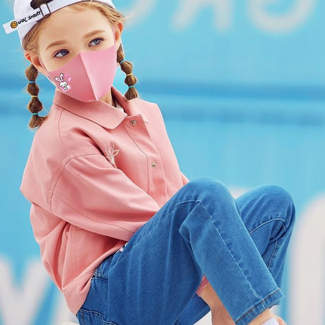Kids Pink Face Mask Washable Children Mask Adjustable Anti Dust Mouth Mask Anti-Pollution Summer Breathable Waterproof Mask 1
