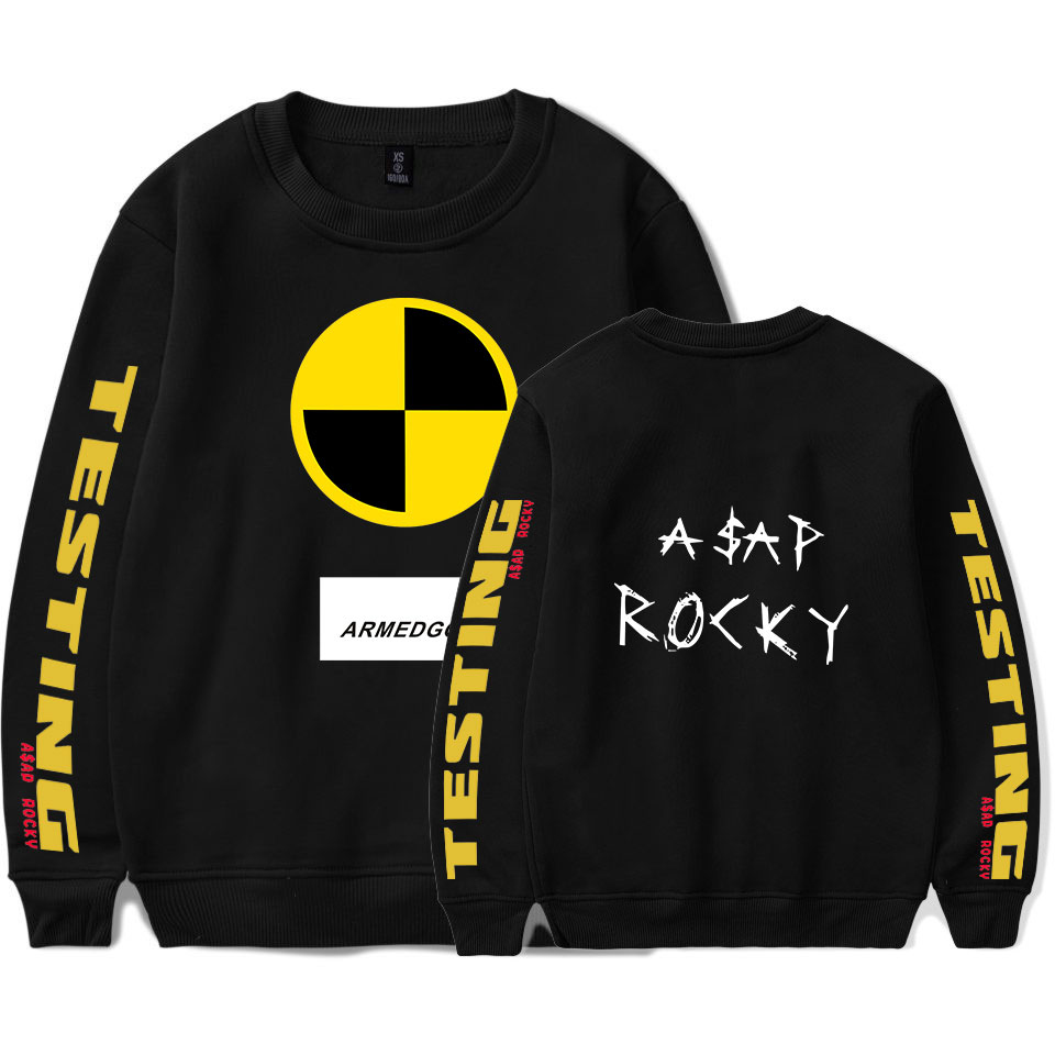 Hip Hop ASAP ROCKY Sweater Women/men Rapper A$AP Rocky Kawaii Printed Harajuku Funny Hoodie Sweater Unisex Kpop Tracksuit