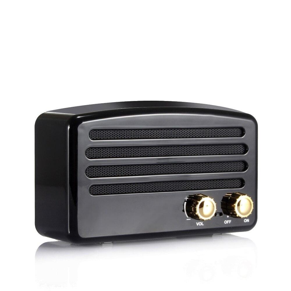 Mini haut-parleur Bluetooth Portable rétro bouton sans fil haut-parleur Subwoofer stéréo Subwoofer haut-parleur FM TF carte cadeau de noël