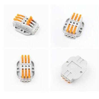 10/30/50 Pièces Connecteurs De Câblage Rapides Compacts Universels Connecteur De Fil 2-12pin Bornier De Connexion De Conducteur Fixe Enfichable
