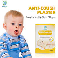 6Pieces/Box Natural Herb Anti-Cough Plaster Stop Cough&Phlegm Patch Coughing Smooth for Children Adult Cough Moisten Lung Patch