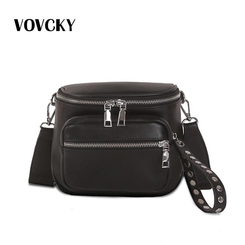 Women's Waist Bag With Wide Belt Fanny Pack For Women Leather Crossbody Bag Black Bolso De Cintura Para Mujer 2019
