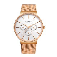 BIDEN Fashion Reloj Simplicity Modern Quartz Watch Calendar Display Water Resistant Stainless Steel Wristwatch Erkek Saat Clock все цены