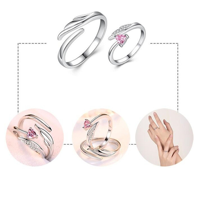 NEHZY 925 sterling silver new jewelry fashion woman opening ring anniversary wedding anniversary wedding engagement couple ring 5