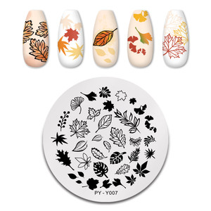 Image 5 - PICT YOU Nail Stamping Plates Tropical Collection Nail Art Stamp Templates DIY Nail Image Plate Stainless Steel Design Tool