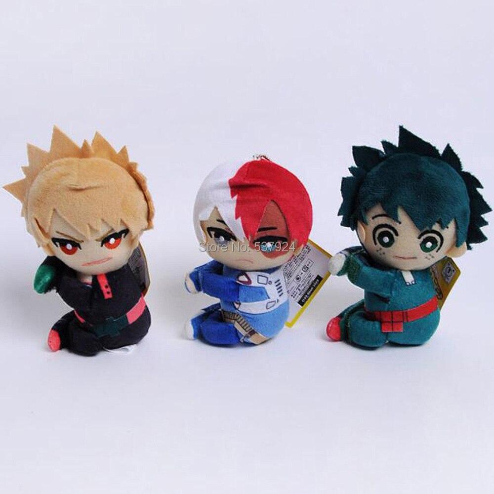 Новинка, 20 штук, My Hero Academy, Bakugou, Katsuki, Todoroki, Shoto, Midoriya Izuku, 5 дюймов, 13 см, на липучке, плюшевая кукла