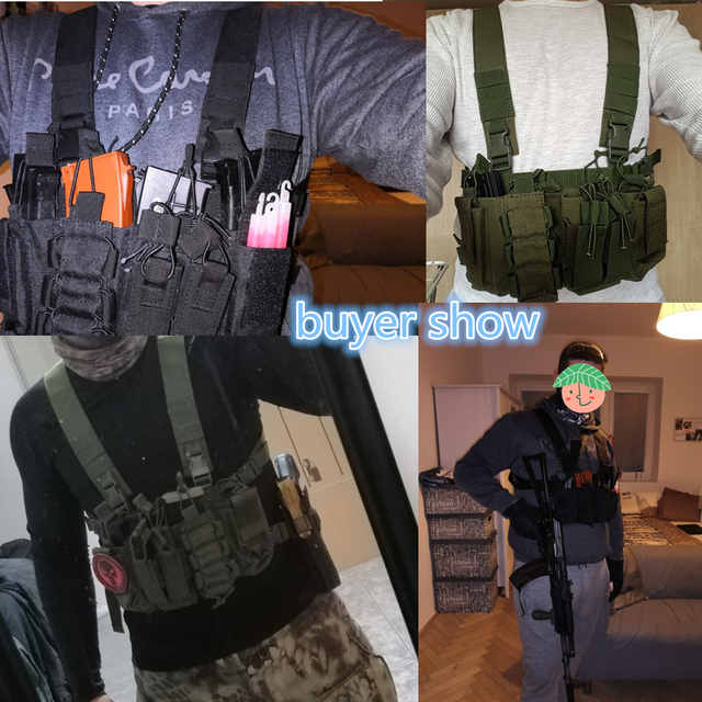 Military equipment tactical Vest Airsoft Paintball Carrier Strike chaleco chest rig Pack Pouch Light Weight Heavy Duty vest 5