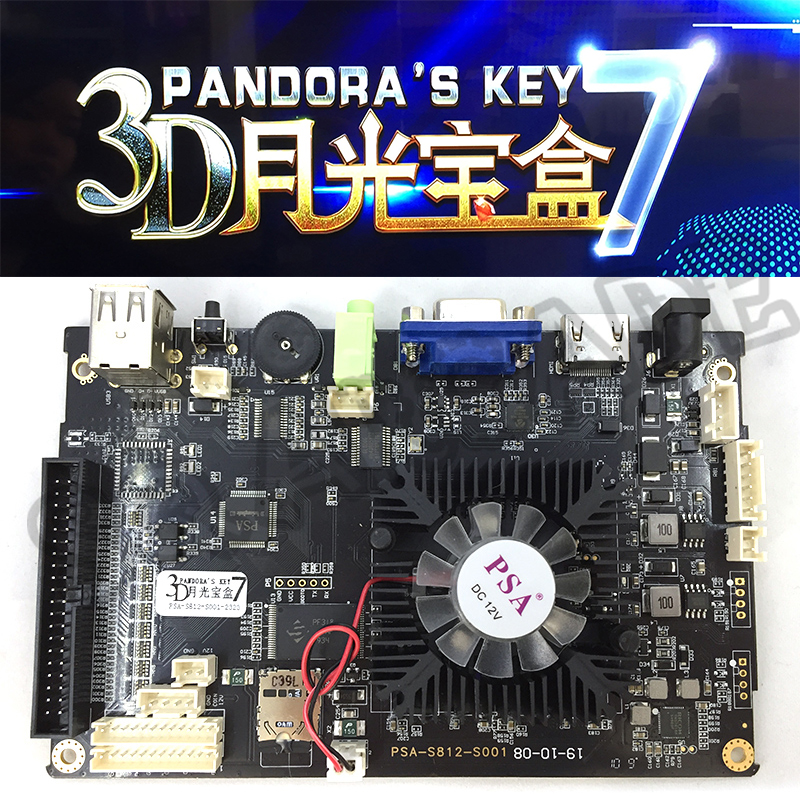 3D Pandora's Key 7 2323 In 1 Pandora 103 X 3D Box Arcade Game Board Support VGA HDMI For HD Video Games Console Pandora Treasure