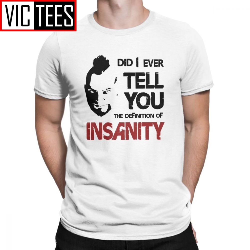 Insanity Vaas Montenegro Far Cry T-Shirts Game John Seed Hope County Cross Crazy Men T Shirts Man Short Sleeves Clothes image