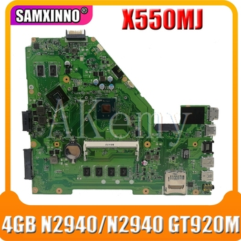 X550MJ motherboard For ASUS X550MJ 4GB RAM N2940CPU GT920M/1G Laptop motherboard X550M X550MD Notebook mainboard fully tested