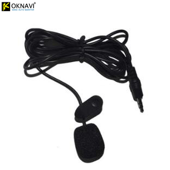 OKNAVI 3.5mm External Microphone Mini Wired for Car DVD Bluetooth Stereo Radio Audio Multimedia Video Player GPS Navigation MP5 image
