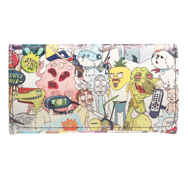 Rick And Morty Fold Wallet Female Coin Purse Lady Purses Women Card Holder DFT6033