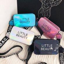 Summer small bag womens 2019 New style-Korean-style versatile shoulder ins laser square sling broadband