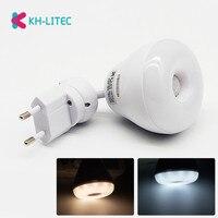 Ue wtyczka AC 110V 220V 5W czujnik podczerwieni pir wykrywacz ruchu LED żarówka lampa ciepły zimny biały Dropshipping w Oświetlenie nocne LED od Lampy i oświetlenie na