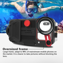 Smartphone diving Case for iphone XR Xs Max Iphone 11 Pro Max 7plus 8plus 60M Underwater phone housing with HD lens Eva Bag 1pc