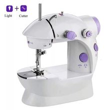 202 Portable Household Electric Mini Sewing Machine Speed Adjustment With Light Handheld EU/US Plug