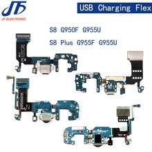 10 pçs/lote para samsung galaxy s8 mais g955f/g955u carregador conector de carregamento usb doca porto plug cabo flexível fita