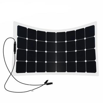 Sunpower Portable Flexible 32Cells 100W bendable Solar Panel For RV Bus