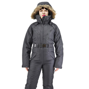 Hooded ski suit jumpsuit plus velvet thick large size jumpsuit export foreign trade play snow super thick warm jumpsuit