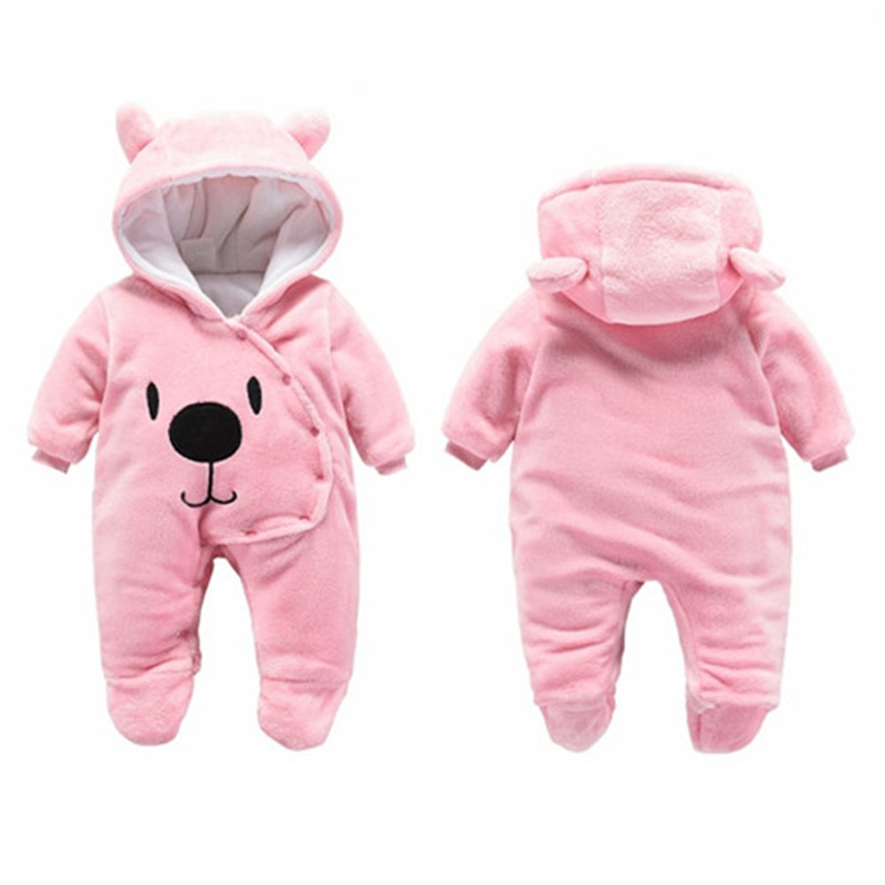 Baby Girls Clothes Newborn Winter Hoodie Baby Rompers Polyester Baby Boy Romper Climbing Outwear Infant Baby