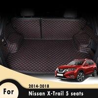 자동차 카고 라이너 플로어 트렁크 카펫 러그 자동차 트렁크 매트 For Nissan Xtrail 5 인용 2014 2015 2016 2017 2018