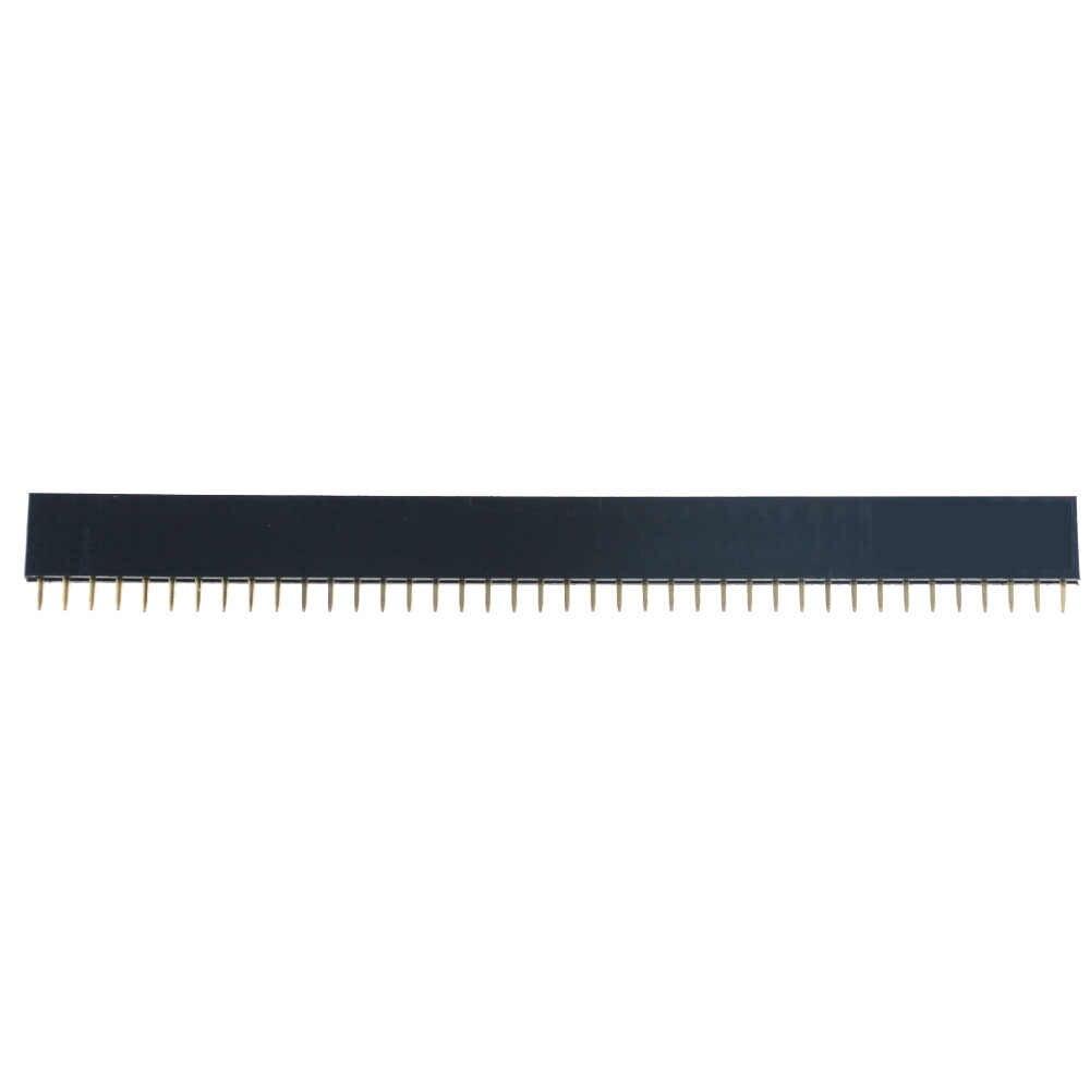 10 Chiếc 2.54 Mm Hàng Đơn Nữ 2-40P PCB Ổ Cắm Ban Pin Đầu Kết Nối Dây Pinheader 1X2P 3 4 6 10 12 14 16 20 40Pin