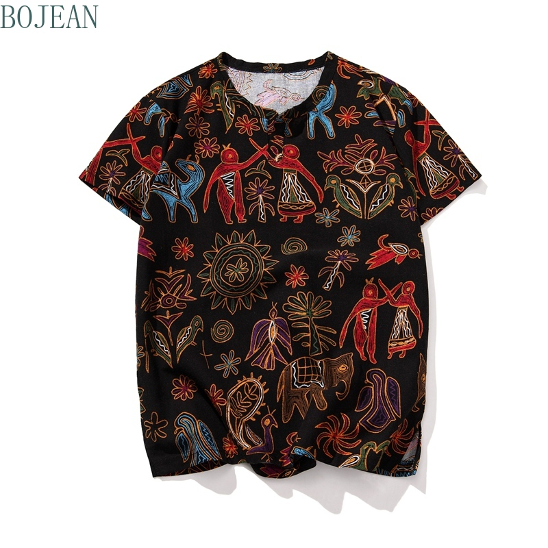 Men Cotton Linen Short Sleeve T Shirt Summer Thin Fabric Chinese Traditionals