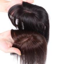 Femmes topper de cheveux pour femme cheveux naturels avec frange frange extension noir brun clairsemé balding personnes MUMUPI