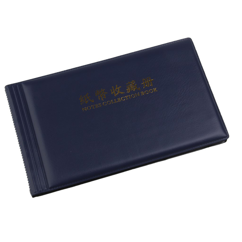 Folder Only Leather Notes Album Banknote Paper Money Collection Stamps Book