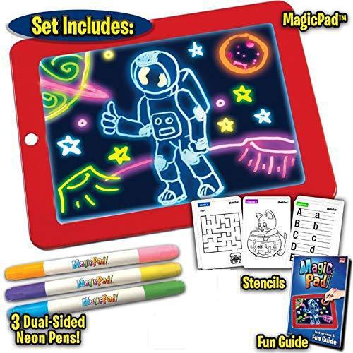 3D Magic Drawing Pad Children'S Educational Shining 3D Drawing Board Mental Toy LED Drawing Board
