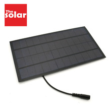 Panel Solar de 12V y 7W con conector de 5,5x2,1 CC para bomba de agua alimentada por energía Solar, sistema de energía Solar, cargador de teléfono celular, juguete DIY